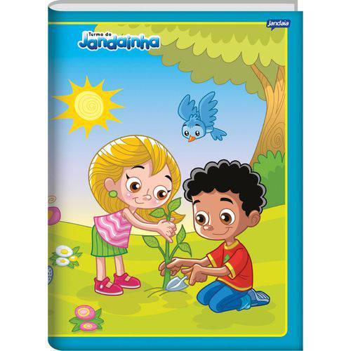 Caderno Brochura Pequeno C Dura Jandainha Menino 96Fls. Jandaia Pct.C/05