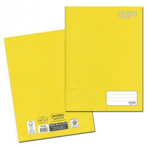 Caderno Brochurão Capa Dura 48 Folhas Amarelo - Jandaia