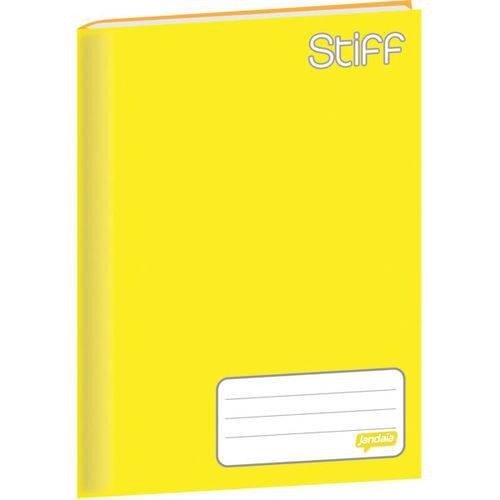 Caderno Brochurão Capa Dura Stiff 96 Folhas Amarelo Pct.c/05 Jandaia