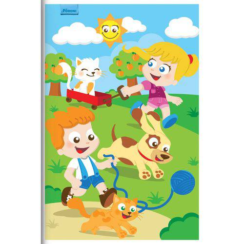 Caderno Brochurao Capa Infantil 96 Folhas Foroni Pct.c/10