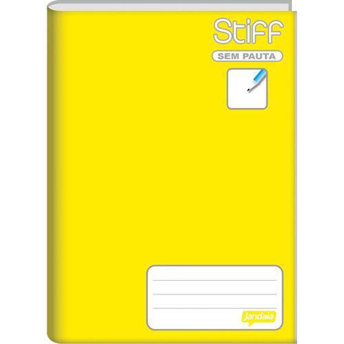 Caderno Brochurao Sem Pauta Stiff 96 Folhas Amarelo Cd. Jandaia Pct.c/05