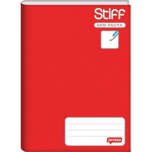 Caderno Brochurao Sem Pauta Stiff 96 Folhas Vermelho Cd. Jandaia Pct.C/05