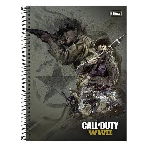 Caderno Call Of Duty - Cinza - 10 Matérias - Tilibra