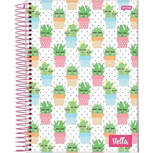 Caderno Capa Dura 10 Matérias Stella 160 Folhas Pacote com 05 Jandaia