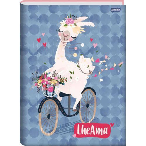 Caderno Capa Dura Brochura Lhama 96 Folhas Pacote com 05 Jandaia