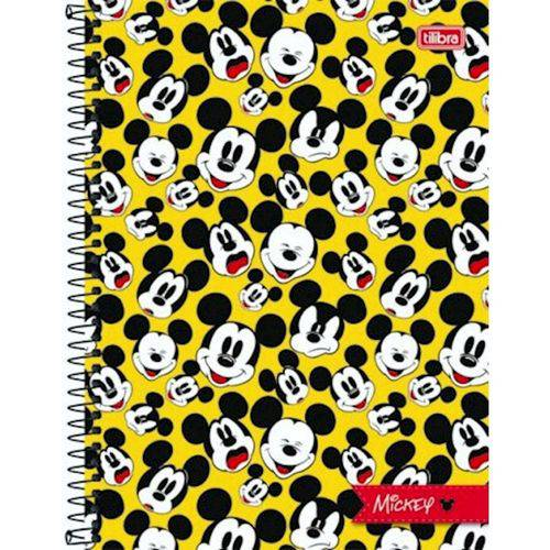 Caderno Capa Dura Mickey 1 Matéria 96 Folhas 149675 Tilibra