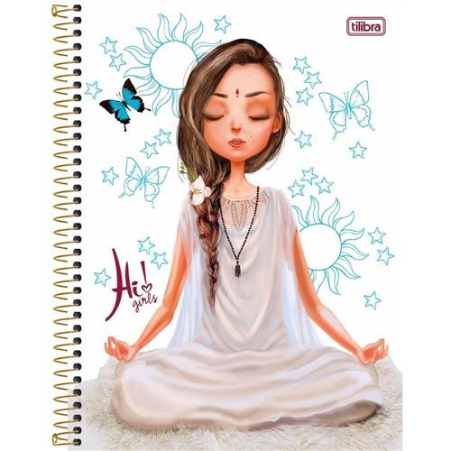 Caderno Capa Dura Universitário Hi! Girls 12 Matérias 240 Folhas 134350-Tilibra