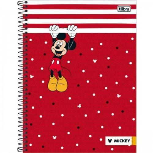 Caderno Capa Dura Universitario Mickey 1 Materia 96 Folhas Tilibra