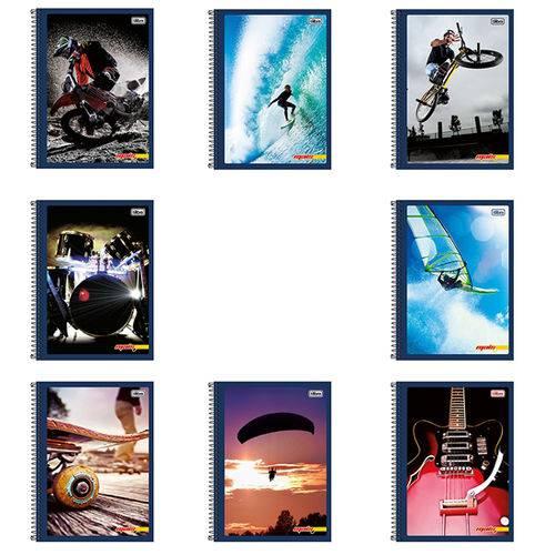 Caderno Capa Flexível Universitário Mais+ 200 Folhas 10 Matérias (Emb. Contém 5 Un.) - Tilibra