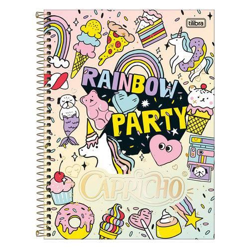 Caderno Capricho - Rainbow Party - 10 Matérias - Tilibra