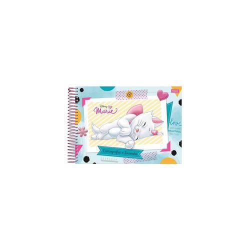 Caderno Cartografia Capa Dura Marie Disney 96 Folhas