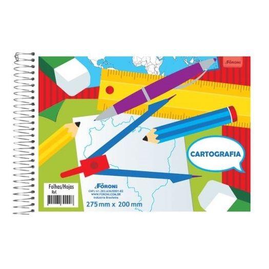 Caderno Cartografia Esp 48f 30.8915-0 Sem Seda Foroni