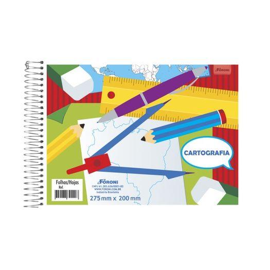 Caderno Cartografia Esp 96f 30.8916-8 Sem Seda Foroni