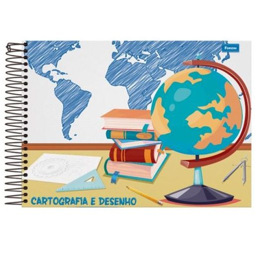 Caderno Cartografia Esp 96f CD 30.8918-4 Sem Seda Foroni