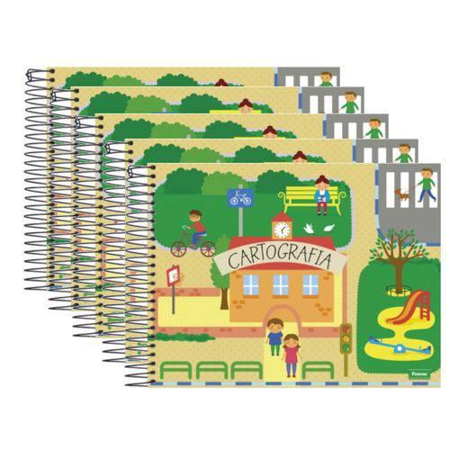 Caderno Cartografia Espiral 96 Folhas Pct 5 Un Capa Dura Foroni