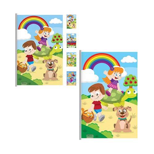 Caderno Criancas Brochura 96 Folhas 1 4