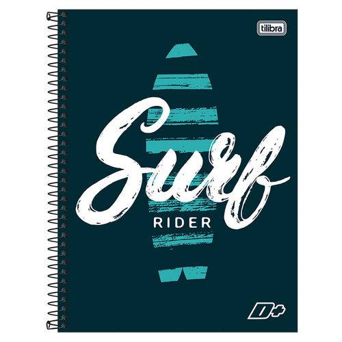 Caderno D+ Masculino - Surf Rider - 16 Matérias - Tilibra