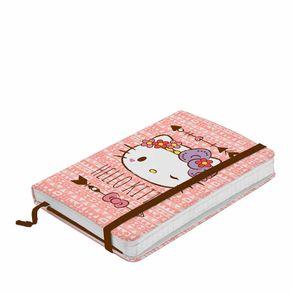 Caderno de Anotação com Elástico Hello Kitty Laço Roxo