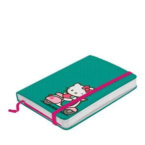 Caderno de Anotação com Elástico Hello Kitty Moto