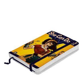 Caderno de Anotação com Elástico Mulher Maravilha Pin Up Dc Comics