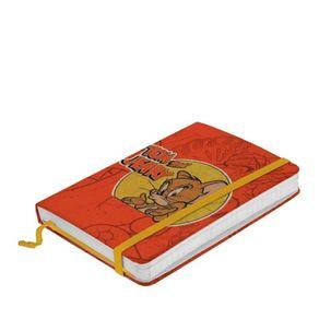 Caderno de Anotação com Elástico Tom e Jerry Hanna Barbera