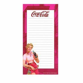 Caderno de Anotações com Imã Pin Up Coca Cola