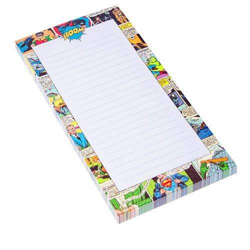 Caderno de Anotações com Imã Quadrinhos DC Comics Colorido