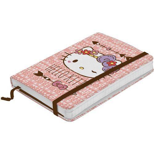 Caderno de Anotações Rosa 100 Folhas Hello Kitty Pequeno Urban