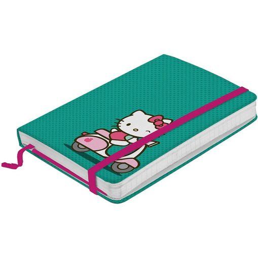 Caderno de Anotações Verde 100 Folhas Hello Kitty Pequeno Urban