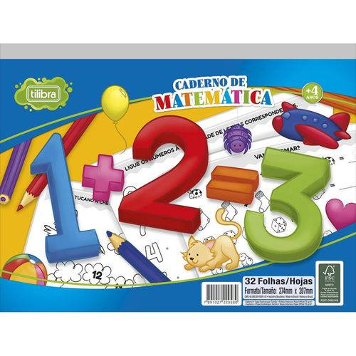 Caderno de Atividades Matematica Academie 32FLS Tilibra
