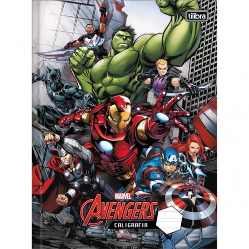 Caderno de Caligrafia Brochura Capa Dura Avengers 40 Folhas - Sortido (Pacote com 5 Unidades)