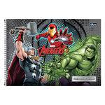 Caderno de Cartografia e Desenho Avengers - Cinza - Tilibra