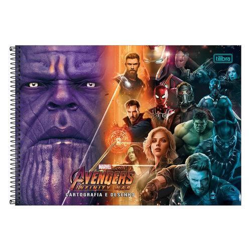 Caderno de Cartografia e Desenho Avengers - os Vingadores Vs Thanos - Tilibra