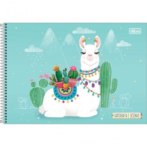 Caderno de Cartografia e Desenho Espiral Capa Dura Hello! 80 Folhas (Pacote com 4 Unidades) - Sortido