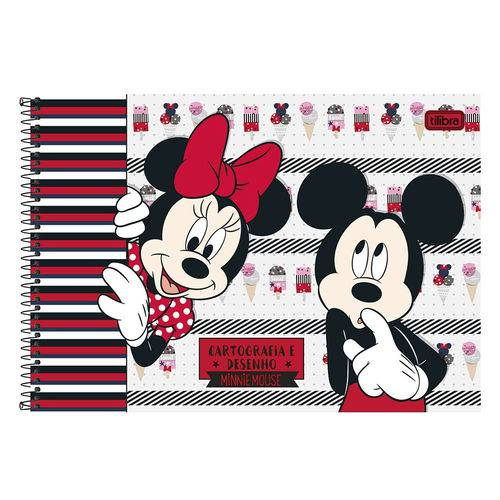 Caderno de Cartografia e Desenho Milimetrado - Minnie & Mickey - Tilibra