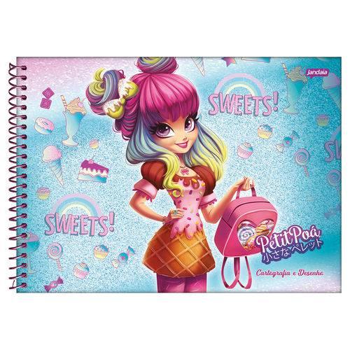 Caderno de Cartografia e Desenho Petit Poá - Menina - Jandaia