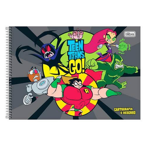 Caderno de Cartografia e Desenho Teen Titans Go! - Cinza - Tilibra