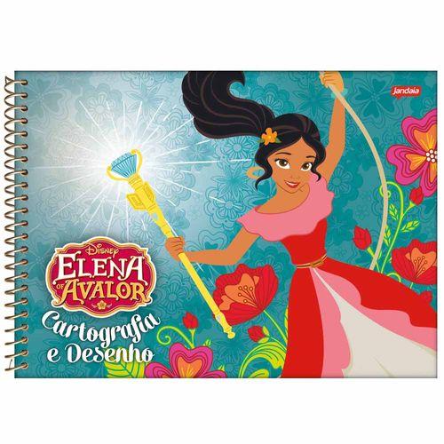 Caderno de Cartografia Elena de Avalor 96 Folhas Jandaia 1024607