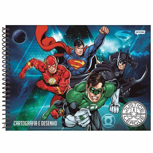 Caderno de Cartografia Liga da Justiça 96 Folhas Jandaia 1022684