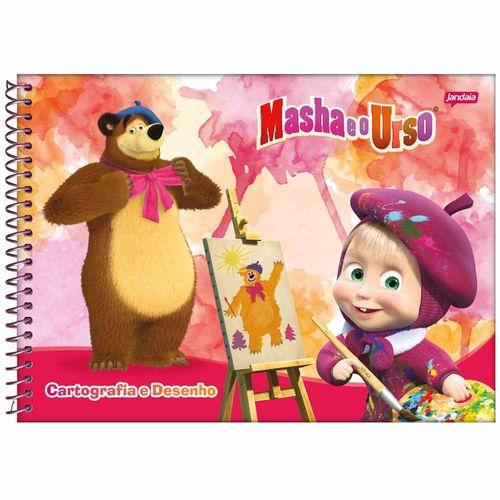 Caderno de Cartografia Masha e o Urso 96 Folhas Jandaia 1025858