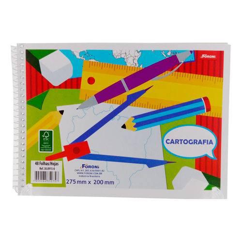 Caderno de Cartografia S/seda 48 Fls Pct C/10 Uni 30.8915-0 Foroni Atacado