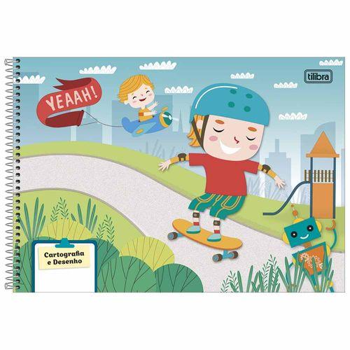 Caderno de Cartografia Sapeca 48 Folhas Tilibra 1024576