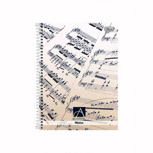Caderno de Música Capa Dura Universitário 96 Folhas Tilibra
