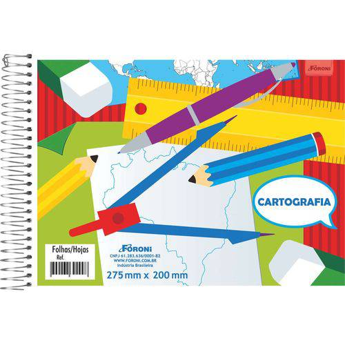 Caderno Desenho Universitario 96fls. S/seda Foroni Pct.c/10