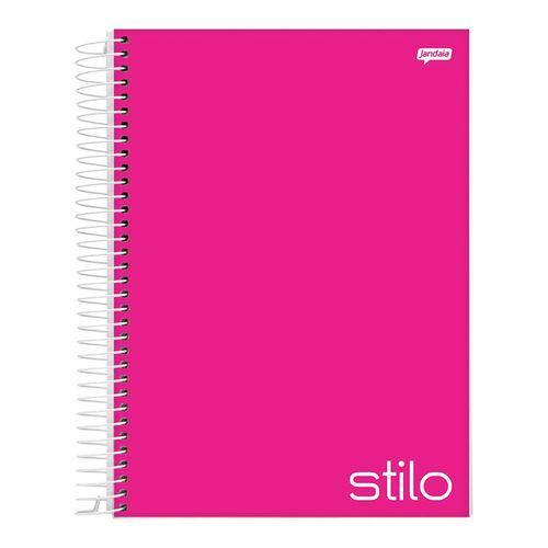 Caderno Espiral 1/4 Capa Dura 96 Folhas Stilo Pink Jandaia