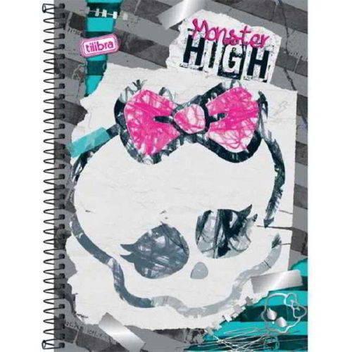 Caderno Espiral 1/4 Capa Dura 96 Folhas Tilibra Monster High