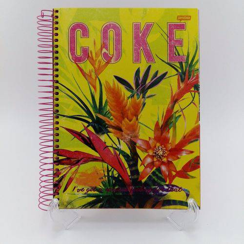 Caderno Espiral 10x1 Universitário Coca Cola 200 Folhas Capa Dura Jandaia