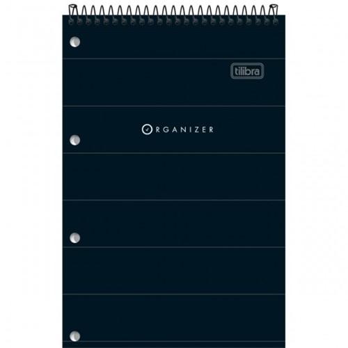 Caderno Espiral ao Alto Capa Flexível P Organizer 80 Folhas