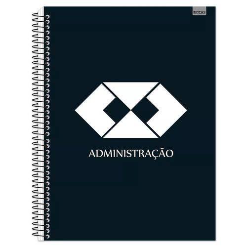 Caderno Espiral Capa Dura 10 Matérias Administração