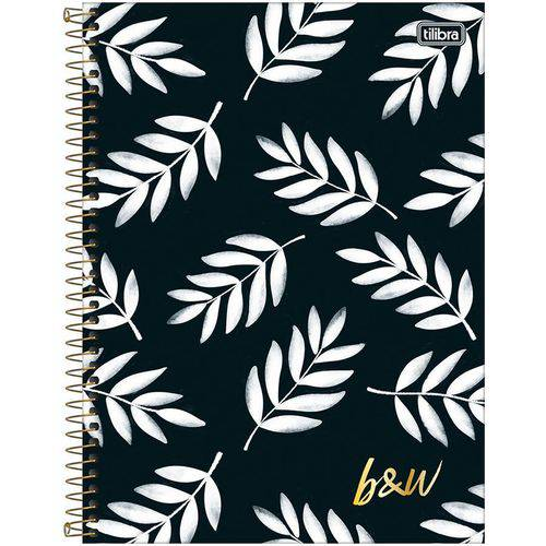 Caderno Espiral Capa Dura 10 Matérias B&W 03